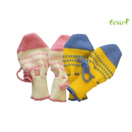 Knitted scratch mittens